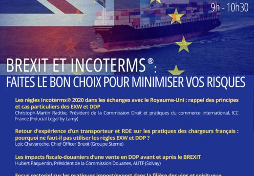 Webinar –  Brexit et Incoterms : Faites le bon choix pour minimiser vos risques